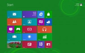 Windows 8 Default Startup Desktop Screen
